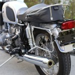BMW R75/5 - 1971 - Pannier Rack, Muffler and Rear Wheel.