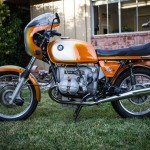 BMW R90S - 1975 - Left Side View, Engine and Gearbox, BMW Badge, Seat and Petrol Tank.