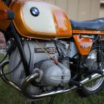 BMW R90S - 1975 - Twin Plug Head, Exhaust, Frame and BMW Badge.