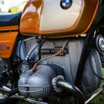 BMW R90S - 1975 - Cylinder Head, Engine Case, Gas Tank and Side Panel.