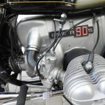 BMW R90S - 1976 - Engine and Gearbox, Spark Plug, Carburettor and Brake Lever.