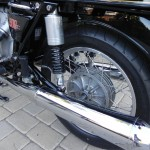 BMW R90S - 1976 - Muffler, Rear Suspension, Rear Wheel and Hub.