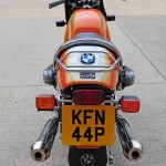 BMW R90S - 1976 - Rear View, Tail Piece, Rack, BMW Badge and Number Plate.