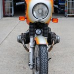 BMW R90S - 1976 - Front View, Fairing, Front Mudguard and Front Wheel.