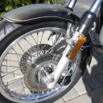 BMW R90S - 1976 - Front Wheel, Spokes, Brake Rotors, Reflectors and Mudguard.