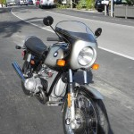 BMW R90S - 1976 - Nose Fairing, Front Fender, Front Engine Cover, Forks and Indicators.