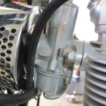 BSA B44VS - 1969 - Amal Carburettor, Air Filter, Inlet and Fuel Line.