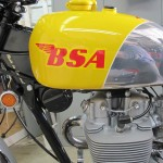 BSA B44VS - 1969 - Gas Tank, BSA Logo, Engine and Cylinder Head.