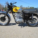 BSA B44VS - 1969 - Left Side View, Engine and Gearbox, Seat, Tank and Forks.
