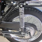 BSA B44VS - 1969 - Rear Wheel, Chain Guard, Rear Brake, Sprocket and Shock.