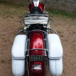 Harley-Davidson Duo Glide - 1960 - Rear End, Rear Fender, Seat and Saddlebags.
