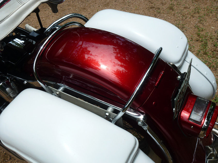 Harley-Davidson Duo Glide - 1960 - Rear Fender and Saddlebags.
