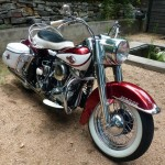 Harley-Davidson Duo Glide - 1960 - Panhead, Front Forks, Front Wheel, Headlight and Bars.