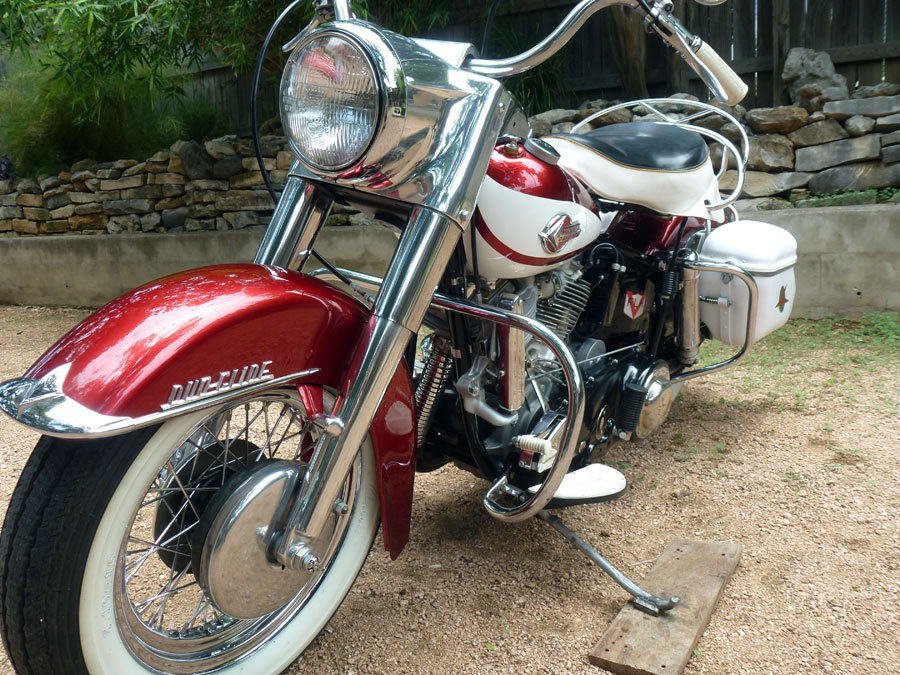 Harley-Davidson Duo Glide - 1960 - Front End, Forks, Wheel, Front Brake and New Spokes.