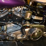 Harley-Davidson FLH Shovelhead - 1972 - Gearbox, Oil Tank, Cylinders, Muffler and Headers.