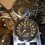 Harley-Davidson FLH Shovelhead - 1972 - Speedo, Clock, Handlebar Mounting and Cables.