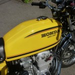 Honda CB400/4 - 1976 - Fuel Tank, Honda Decal and Fuel Cap.