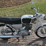 Honda CB160 Sport - 1969 - Right Side View, Seat, Muffler and Frame.