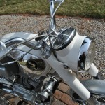 Honda CB160 Sport - 1969 - Gas Tank, Handlebars and Chrome Rim.