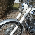 Honda CB160 Sport - 1969 - Forks, Headlight, Front Wheel and Mudguard.