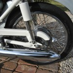 Honda CB160 Sport - 1969 - Muffler, Swing Arm and Chain Guard.