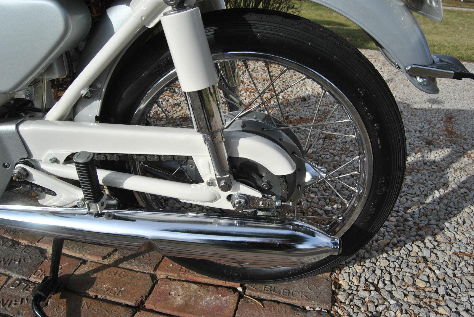 Honda CB160 Sport - 1969 - Muffler, Swing Arm and Chain Guard.