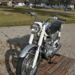 Honda CB160 Sport - 1969 - Front Forks, Front Wheel and Headlight Glass.