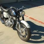 Honda CB450 Black Bomber - 1967 - Front Wheel, Front Forks and Headlight.