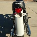 Honda CB450 Black Bomber - 1967 - Rear Light Unit, Rear Fender and Mufflers.