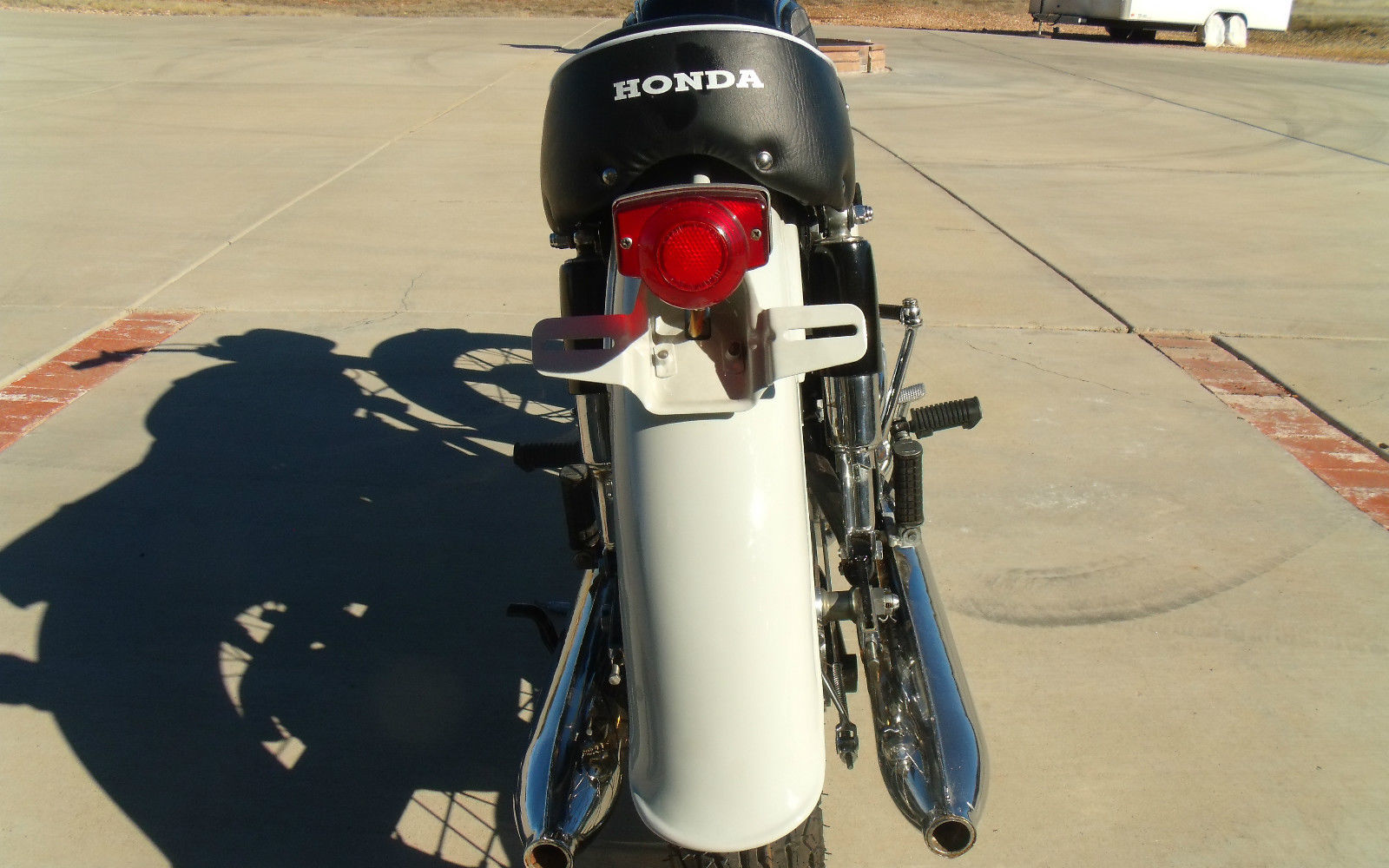 Honda CB450 Black Bomber - 1967 - Rear Light Unit, Rear Fender and Mufflers.