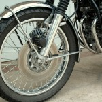 Honda CB750 K1 - 1970 - front Drake Calliper, Disc and Mudguard.