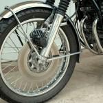 Honda CB750 K1 - 1970 - front Drake Calliper, Disc and Mudguard.