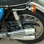 Honda CB750 K1 - 1970 - Chain Guard, Rear Shock Absorber, Flasher and Fender.