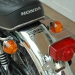 Honda CB750 K1 - 1970 - Rear Mudguard, Rear Light, Indicators and Grab Handle.