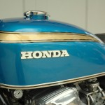 Honda CB750 K1 - 1970 - Ignition Switch, Gas Tank and Honda Badge.