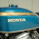 Honda CB750 K1 - 1970 - Ignition Switch, Gas Tank and Honda Badge.