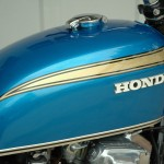 Honda CB750 K1 - 1970 - Fuel Tank and Honda Badge.