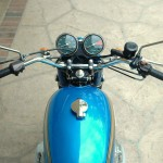 Honda CB750 K1 - 1970 - Gas Tank, Handlebars and Clocks.