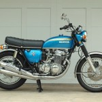 Honda CB750 K1 - 1970 - Right Side View, Tank, Side Panels and Seat.
