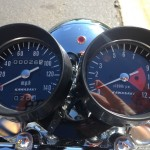 Kawasaki H1 Mach 111 - 1969 - Clocks, Hoods, Speedo and Tacho.