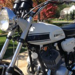 Kawasaki H1 Mach 111 - 1969 - Headlight, Fuel Tank, Gas Tank, Cables and Handlebars.