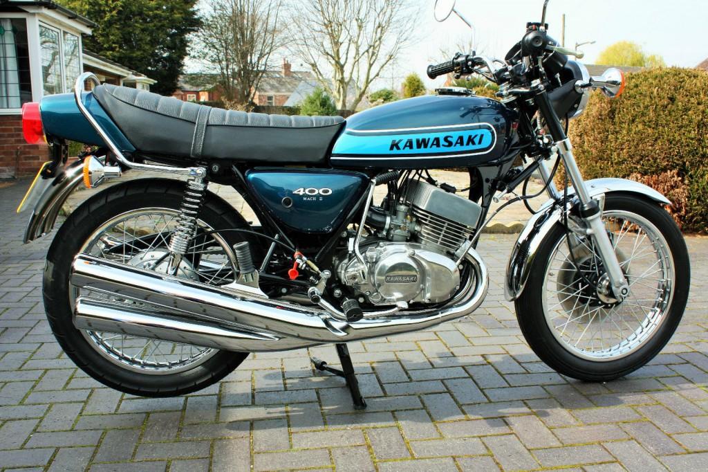 Restored kawasaki s3 400 1974 photographs at classic bikes restored