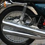 Kawasaki S3 400 - 1974 - NOS Exhausts, Shock Abdorber, Rear Wheel and Grab Rail.