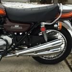 Kawasaki Z1 - 1973 - Mufflers, Rear Shock, Indicator, Chain Oiler.