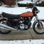 Kawasaki Z1 - 1973 - Engine and Gearbox, Exhausts, Seat and Tank.