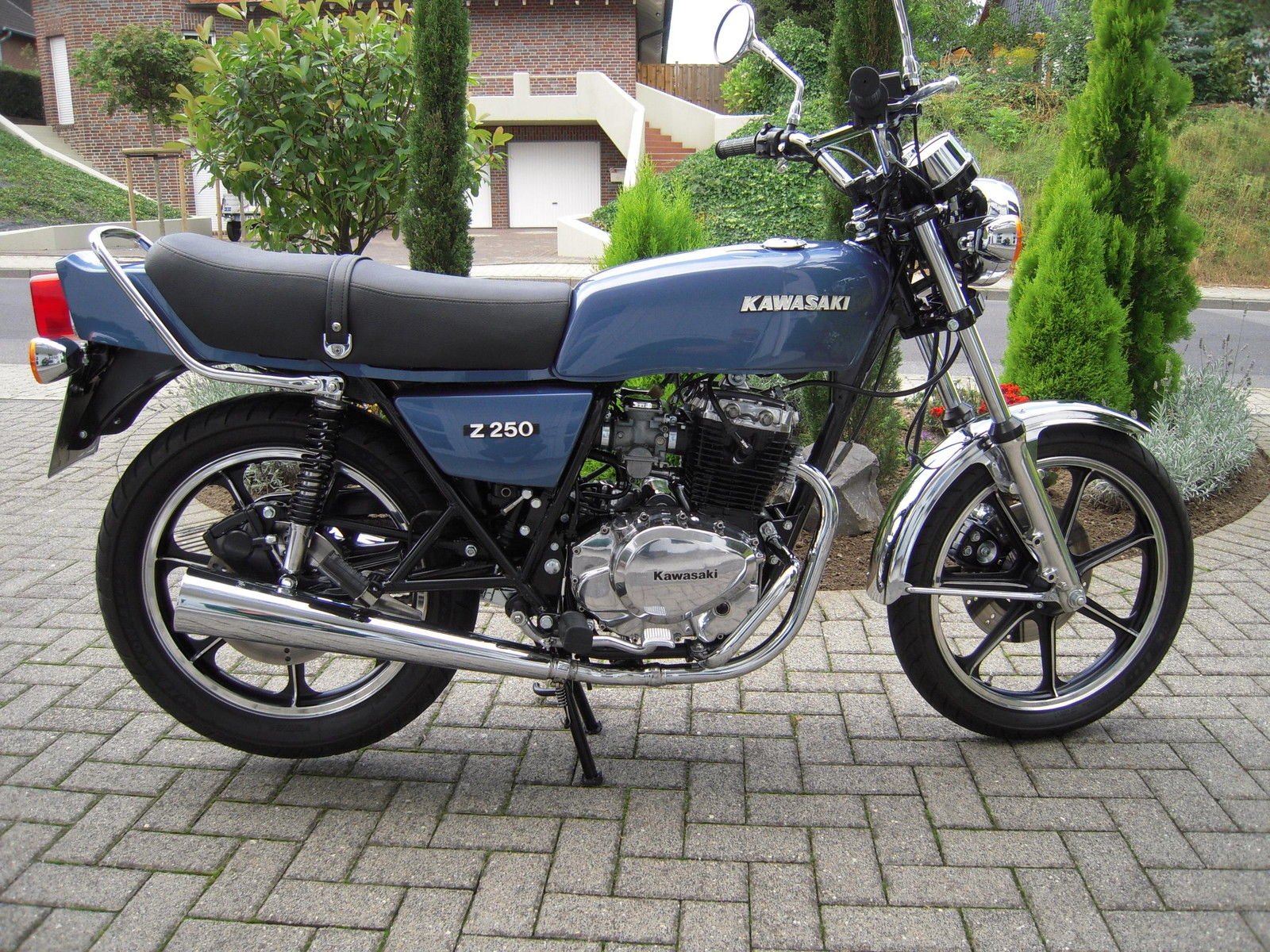 Restored Kawasaki Z250 1980 Photographs At Classic Bikes Restored Bikes Restored