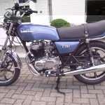 Kawasaki Z250 - 1980 - Left Side View, Engine and Gearbox, Tank and Side Panels.
