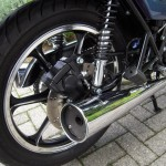 Kawasaki Z250 - 1980 - Rear Wheel, Rear Disc, Muffler and Frame.