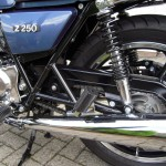 Kawasaki Z250 - 1980 - Muffler, Exhaust, Shock Absorber and Swing Arm.