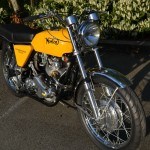 Norton Commando S-Type - 1969 - Front End, Front Mudguard, Front Wheel and Headlight.